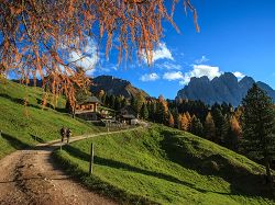 Autumn, Kaserill, alpine hut, alpine pasture, hiking